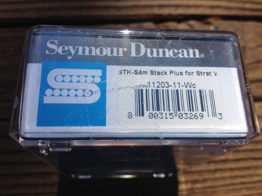 Image 2 of Seymour Duncan STK-S4M Classic Stack Strat Plus MIDDLE Pickup White