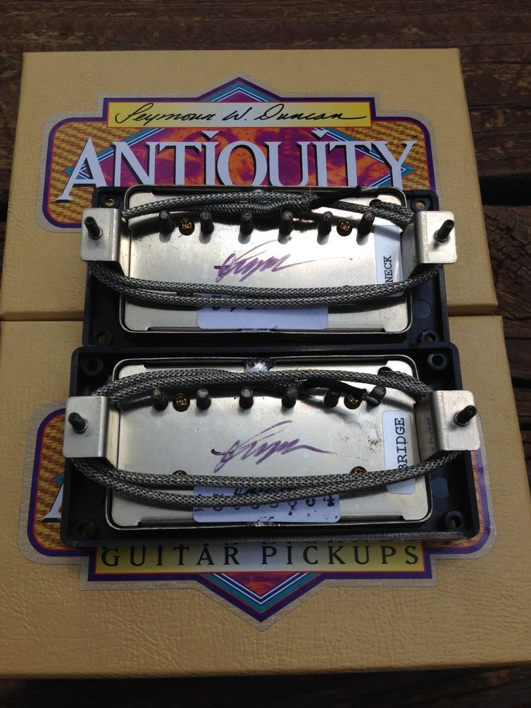 Image 1 of Seymour Duncan Antiquity Humbucker Pickup Set Aged Nickel 1950's P.A.F. Pickups