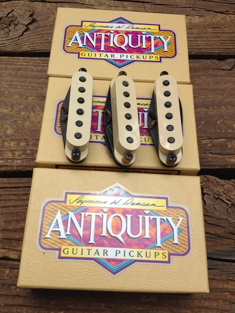 Image 0 of Seymour Duncan Antiquity for Strat Texas Hot SET Single Coil Stratocaster