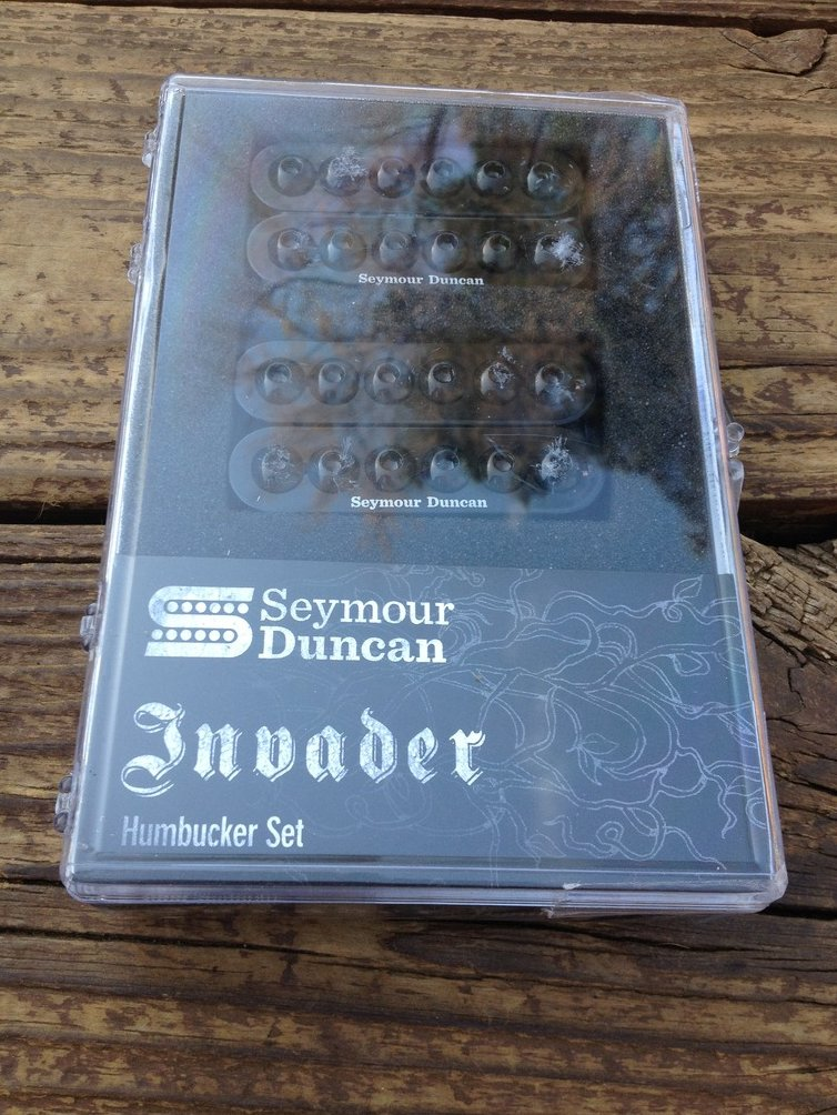Seymour Duncan SH-8 Invader Humbucker Pickup SET Black Ceramic Neck & Bridge