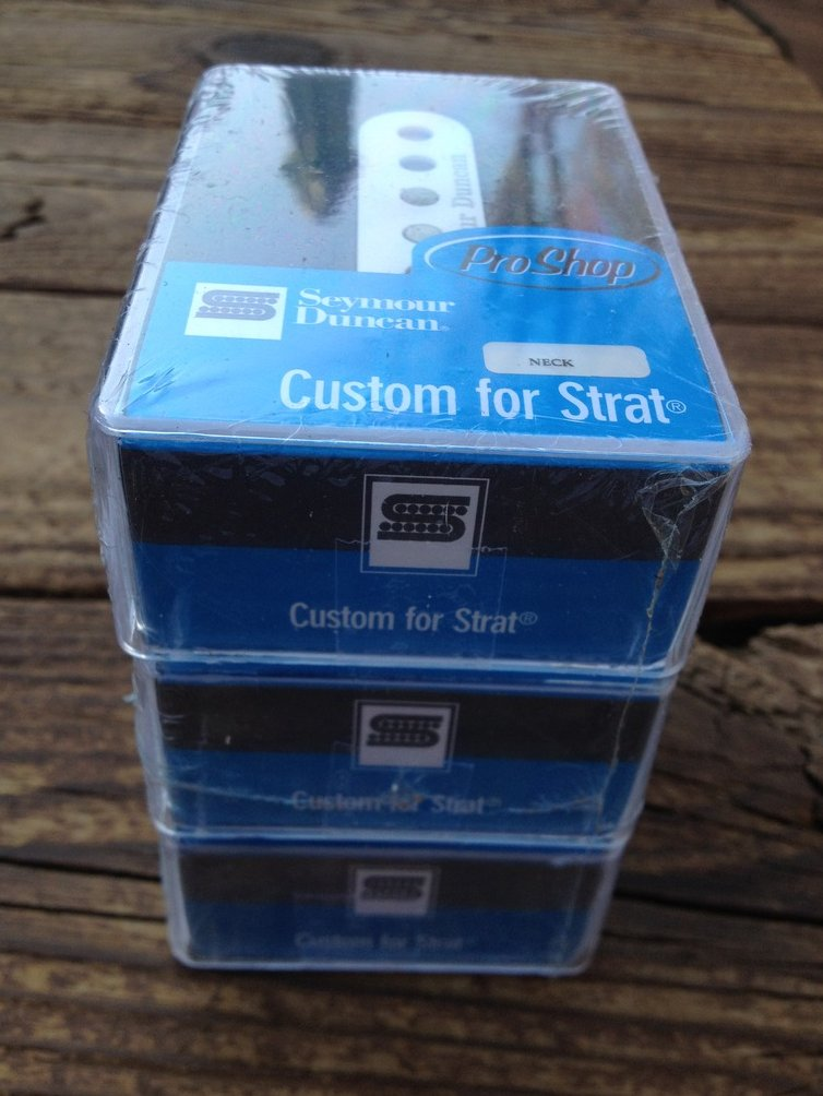 Image 0 of Seymour Duncan Custom Staggered STRAT SSL-5 Calibrated Pickup Set Stratocaster