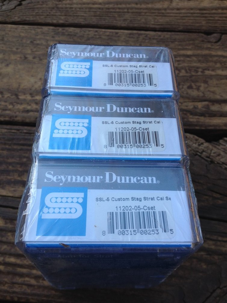 Image 1 of Seymour Duncan Custom Staggered STRAT SSL-5 Calibrated Pickup Set Stratocaster