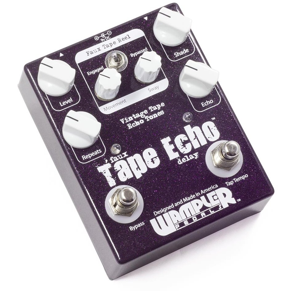 Wampler Faux Tape Echo Guitar Delay Pedal W/ Tap Tempo