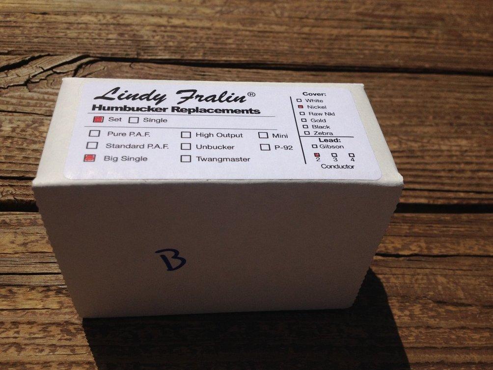 Image 1 of Lindy Fralin BIG SINGLE Pickup Set NICKEL Covers Humbucker Sized Perfection