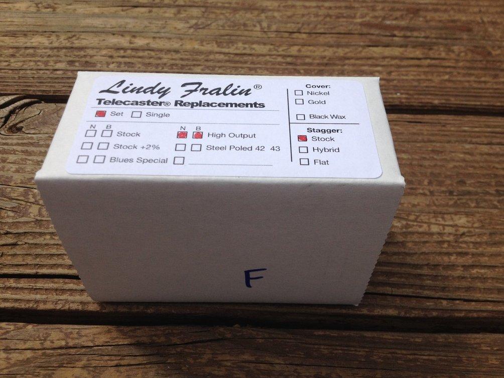 Image 1 of Lindy Fralin High Output Tele PICKUP SET Fender Telecaster HOT Pickups