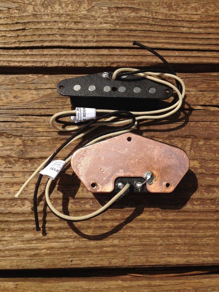 Image 3 of Lindy Fralin High Output Tele PICKUP SET Fender Telecaster HOT Pickups