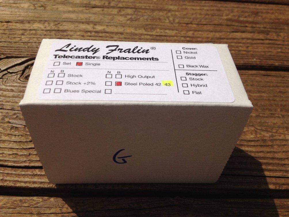 Image 1 of Lindy Fralin STEEL POLE SP43 TELE Bridge Telecaster Pickup - P90 Tone