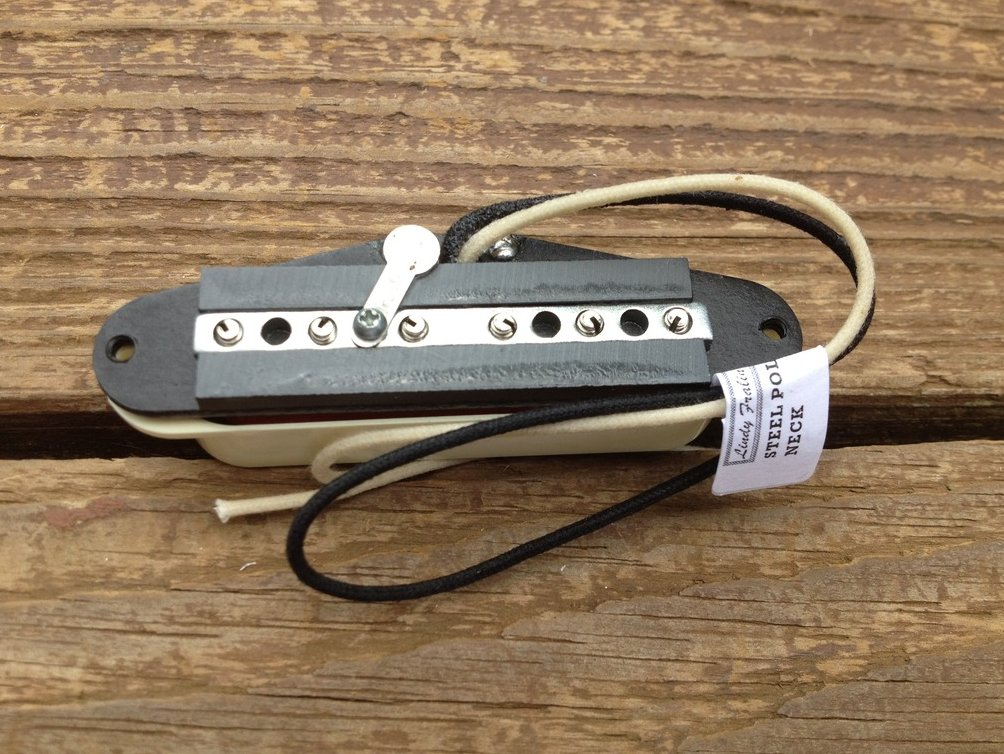 Image 3 of Lindy Fralin STEEL POLE SP43 Strat Neck Pickup Aged White Cover Stratocaster