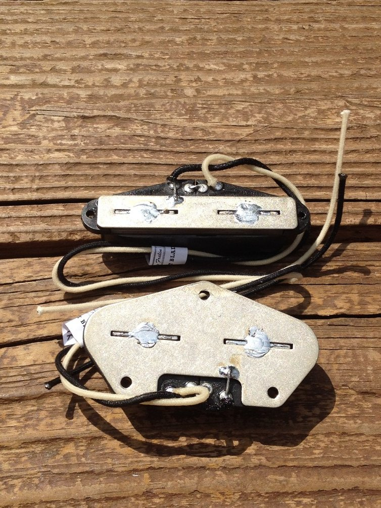 Image 3 of Lindy Fralin Blues Tele Split Blade Pickup Set - Black Covers Medium Radius