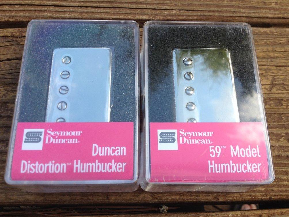 Image 0 of Seymour Duncan Distortion SH-6 Bridge & SH-1 59 Neck NICKEL Humbucker Pickup Set