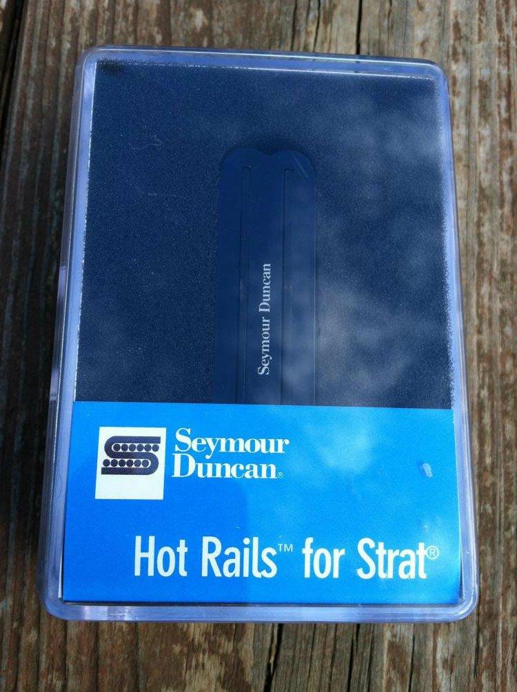 Seymour Duncan SHR-1b Hot Rails Strat BRIDGE Pickup BLACK - Fender Stratocaster