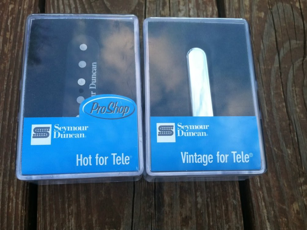 Seymour Duncan STL-2 Hot & STR-1 Vintage Tele PICKUP SET Fender Telecaster NEW