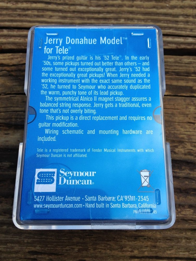 Image 1 of Seymour Duncan APTL-3JD Jerry Donahue Alnico II Tele Pickup Bridge Telecaster