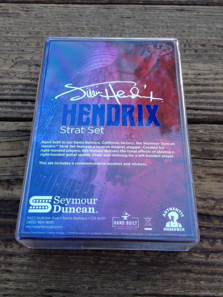 Image 1 of Seymour Duncan Jimi Hendrix Strat Set Single Coil Stratocaster Pickups - White
