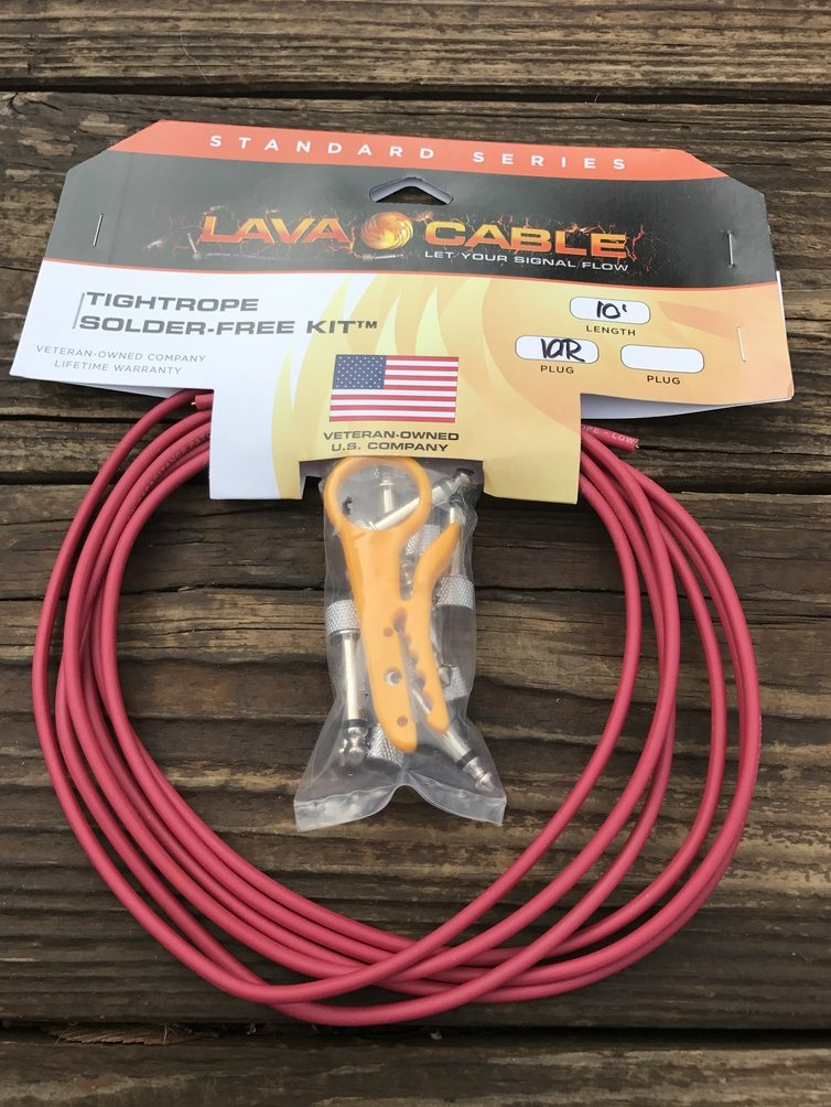 LAVA Cable RED Tightrope Solder-Free Pedal Board Kit - VERSION 2 (V2) PLUGS