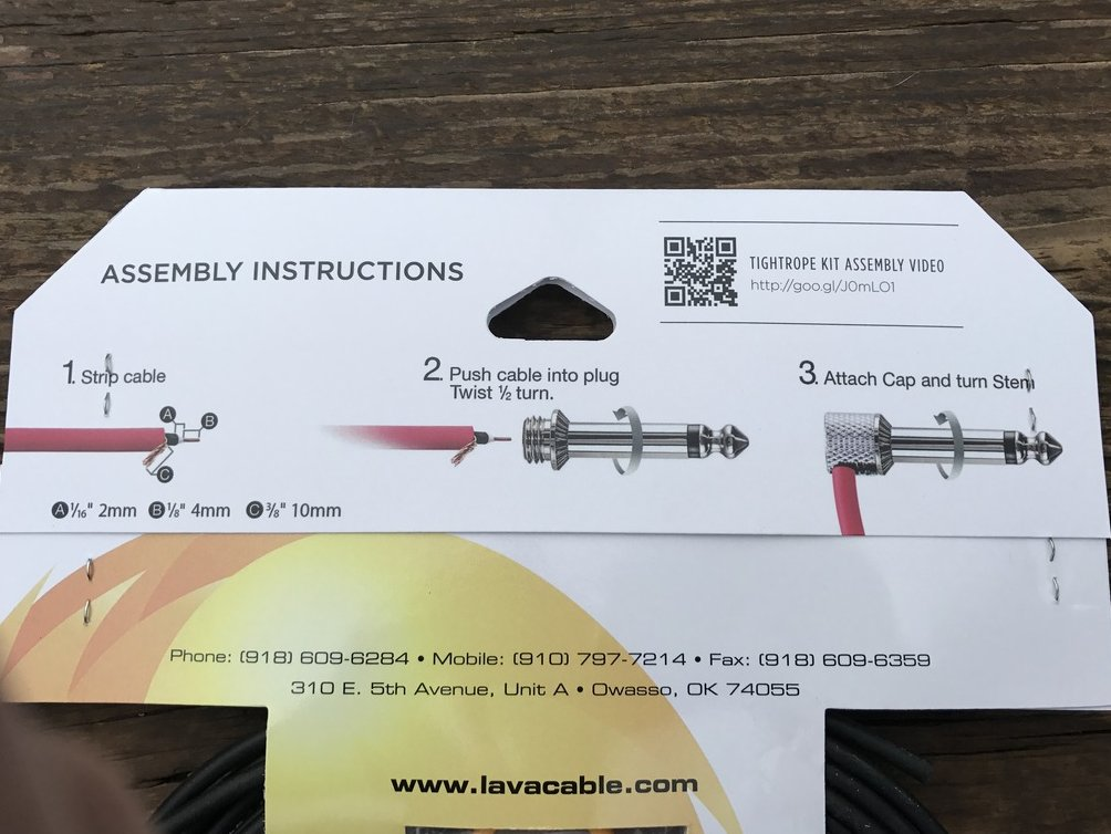 Image 1 of LAVA Solder-Free XL Pedalboard Kit 20ft Cable 20 RA V2 Plugs - BLACK & WHITE