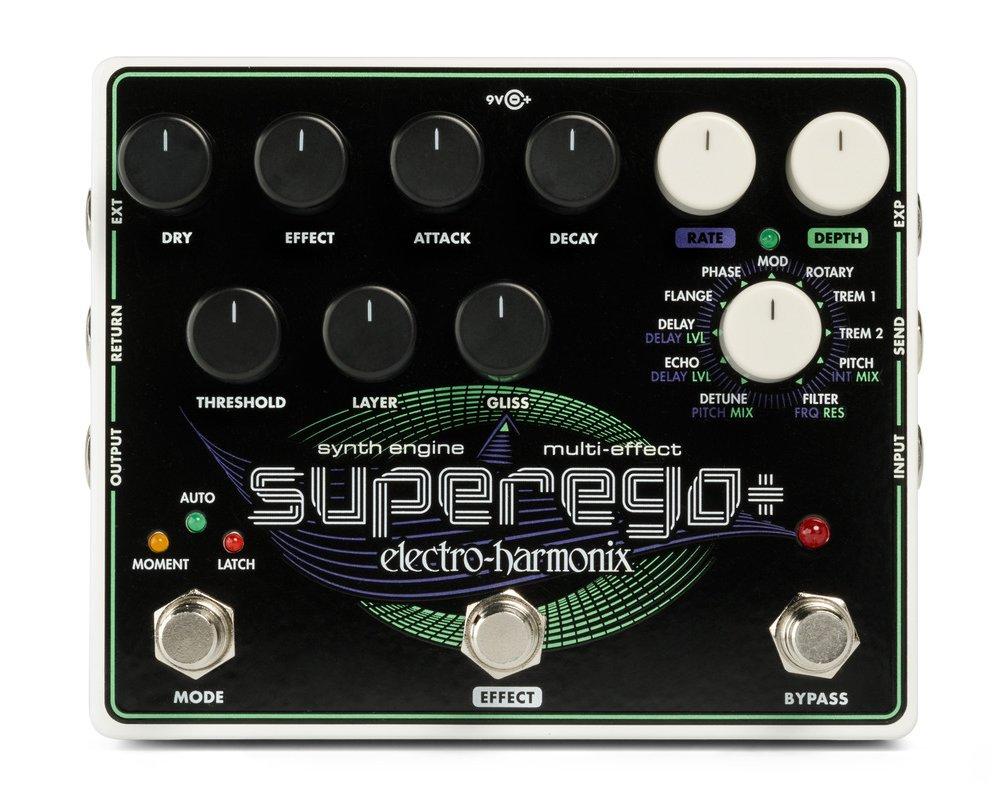 Electro Harmonix SuperEgo Plus Super Synth Engine Effects Pedal w/ Power EHX