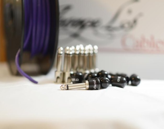 George L's 155 Pedalboard Effects Cable Kit LARGE .155 Purple / Nickel 15/14/14