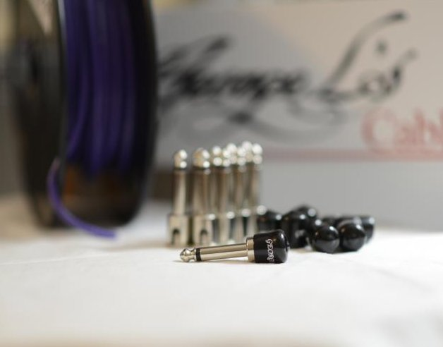 George L's 155 Pedalboard Effects Cable Kit .155 Purple / Nickel - 10/10/10