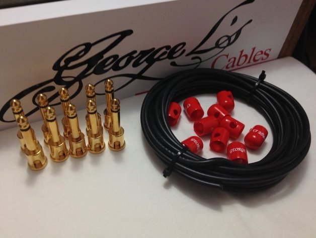 George L's 155 Pedalboard Effects Cable Kit .155 Black & Red GOLD - 10/10/10