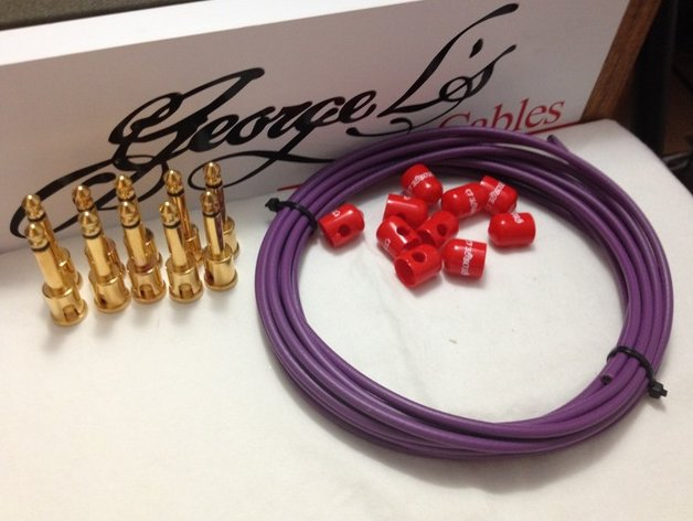 George L's 155 Pedalboard Effects Cable Kit .155 Purple & Red / GOLD - 10/10/10