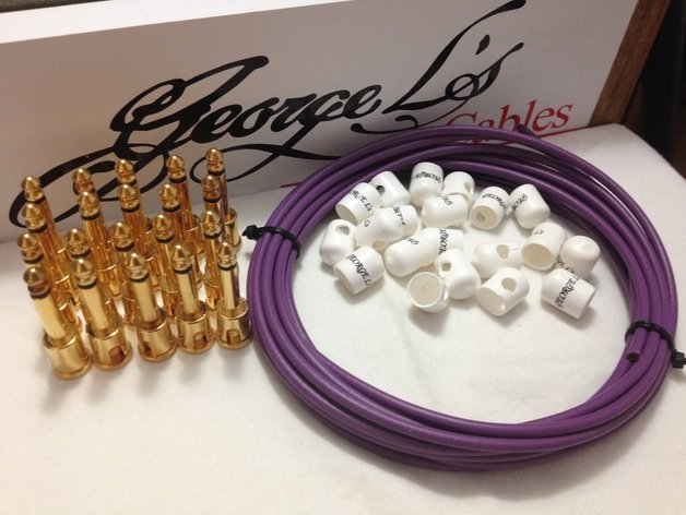 George L's 155 Pedalboard Cable Kit XL .155 Purple & White / GOLD - 20/20/20