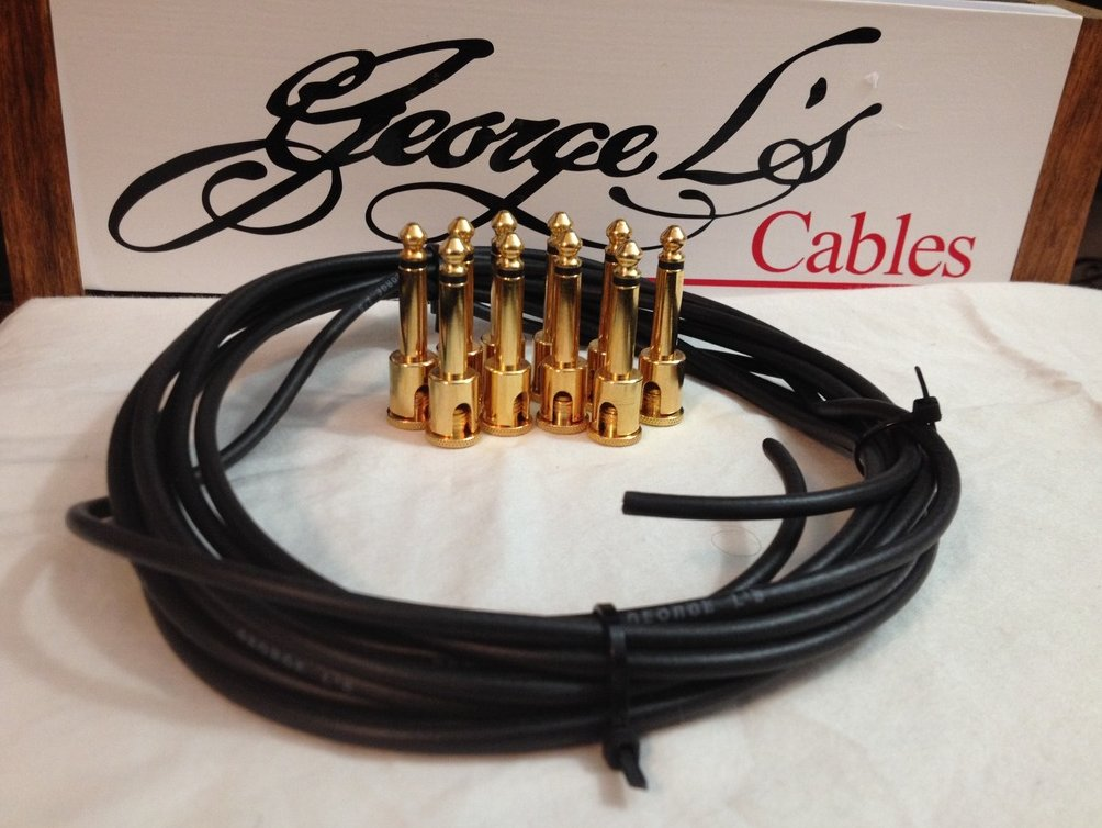 NEW George L 155 Pedalboard Effects Cable Kit .155 Black / GOLD - 10/10