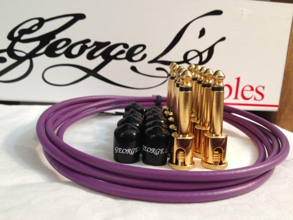 George L's 155 Guitar Pedal Cable Kit .155 Purple / Black / Gold - 10/10/5