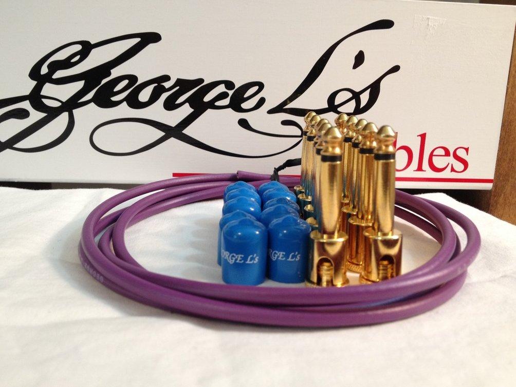 George L's 155 Guitar Pedal Cable Kit .155 Purple / Blue / Gold - 10/10/5