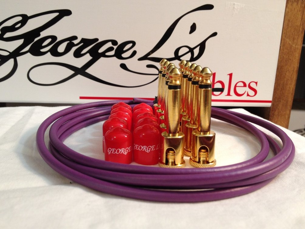George L's 155 Guitar Pedal Cable Kit .155 Purple / Red / Gold - 10/10/5