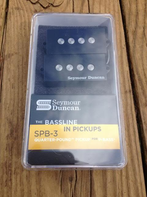 Image 3 of Seymour Duncan SPB3 Quarter Pound P Bass Pickup SET Fender Precision Bass SPB-3