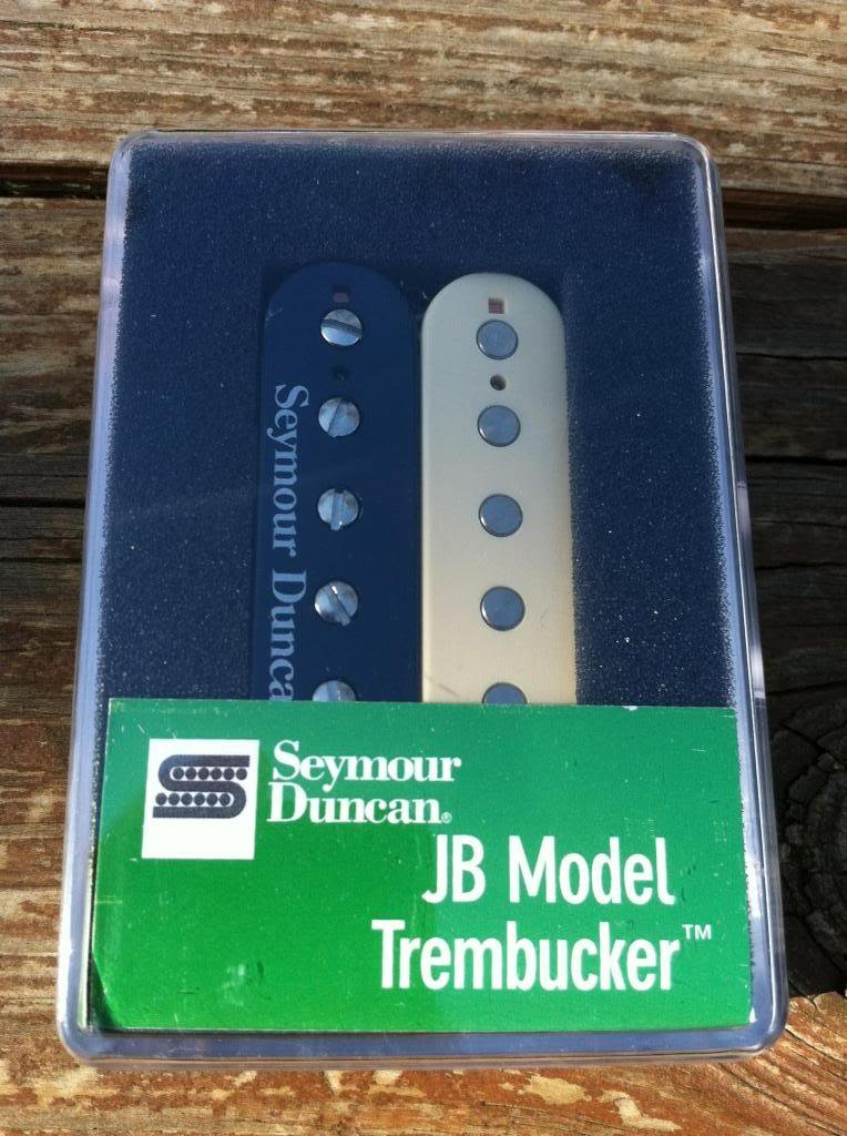 Image 3 of Seymour Duncan TB-4 JB Trembucker Humbucker PICKUP Reverse Zebra Bridge Guitar