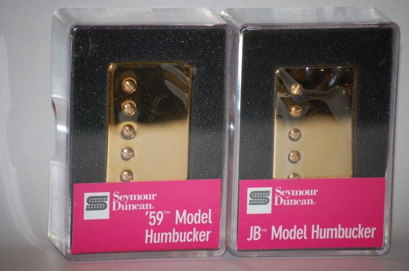 Image 2 of Seymour Duncan SH-4 JB & SH-1n 59 GOLD Humbucker Pickup Set Pickups Guitar