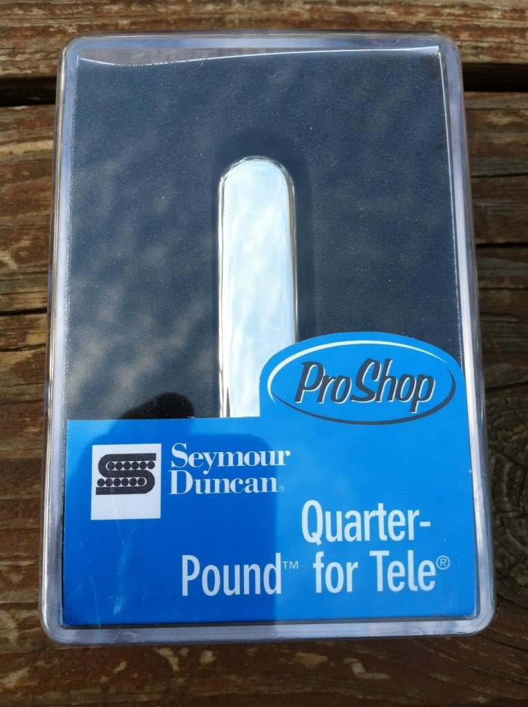 Image 3 of Seymour Duncan STR-3 Quarter Pound Rhythm Telecaster Neck Pickup Chrome Tele