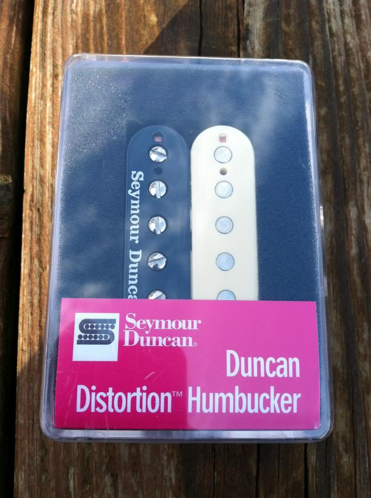 Image 3 of Seymour Duncan Distortion SH-6 Humbucker Pickup Bridge REVERSE ZEBRA - NEW
