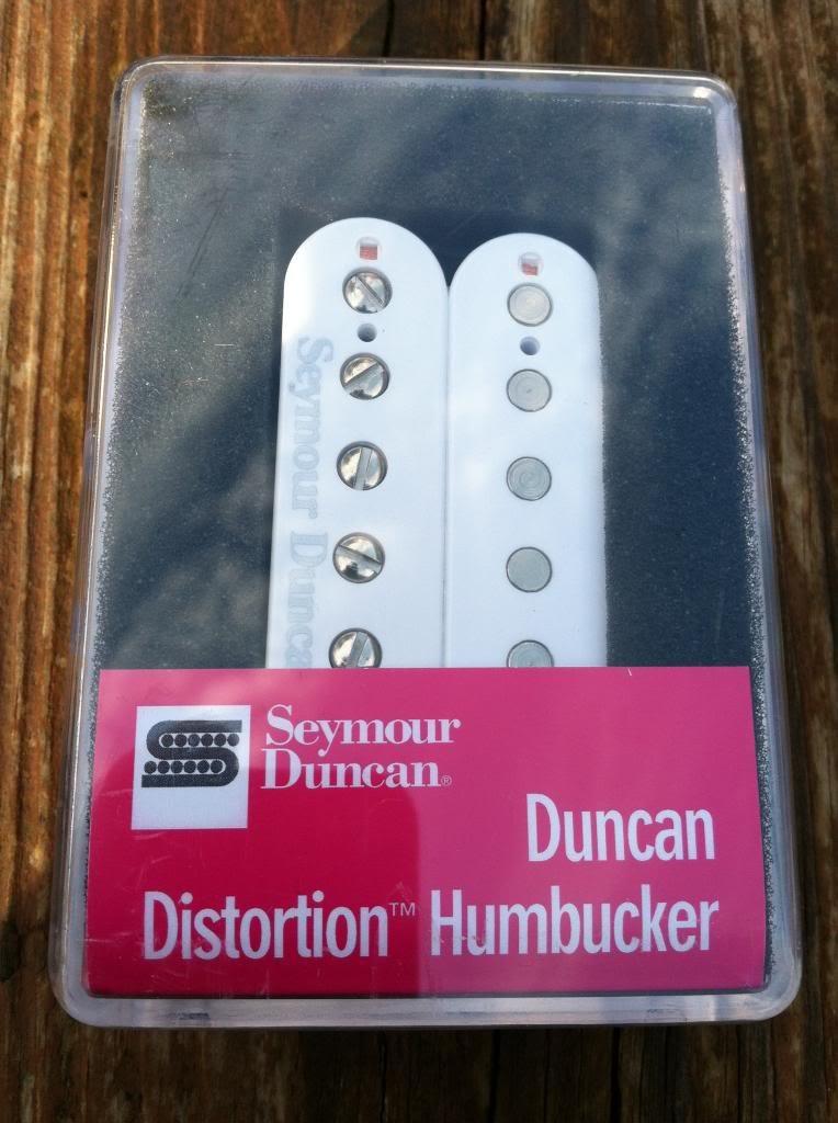 Image 3 of Seymour Duncan Distortion SH-6 Humbucker Pickup Bridge WHITE Electric Guitar