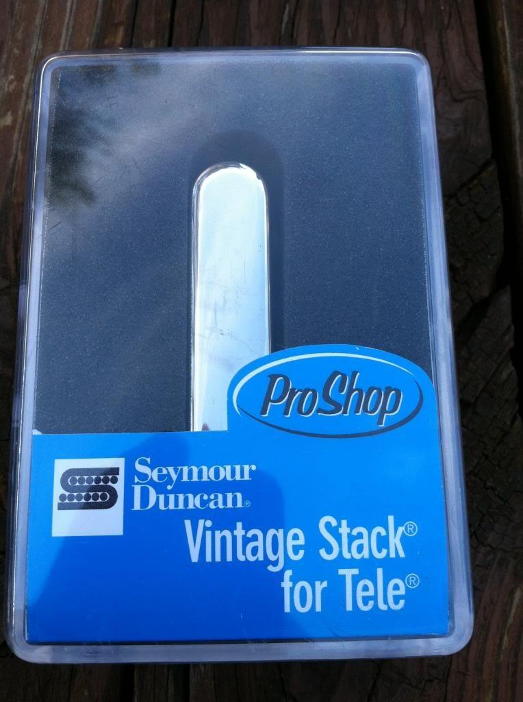 Image 3 of Seymour Duncan STK-T1 Vintage Stack Telecaster Neck Rhythm  Pickup CHROME - NEW