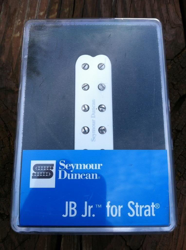 Image 3 of Seymour Duncan SJBJ-1 JB Jr Strat Pickup Middle/Neck WHITE Fender Stratocaster