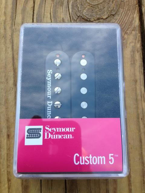 Image 3 of Seymour Duncan SH-14 Custom 5 Black Humbucker Pickup Bridge - Brand New!