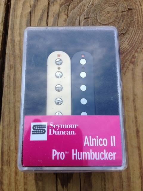 Image 3 of Seymour Duncan APH-1n Alnico II Pro Humbucker Pickup Neck Zebra - Brand New!