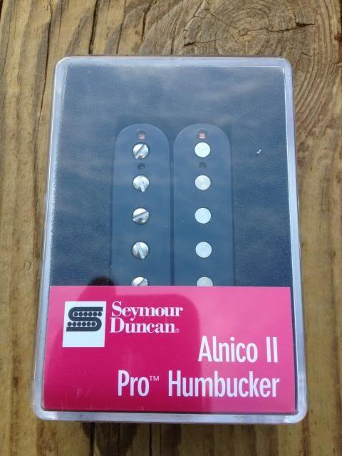 Image 3 of Seymour Duncan APH-1b Alnico II Pro Humbucker Pickup Bridge Black - Brand New!