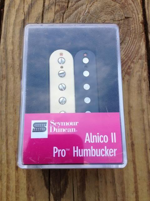 Image 3 of Seymour Duncan APH-1b Alnico II Pro Humbucker Pickup Bridge Zebra - Brand New!