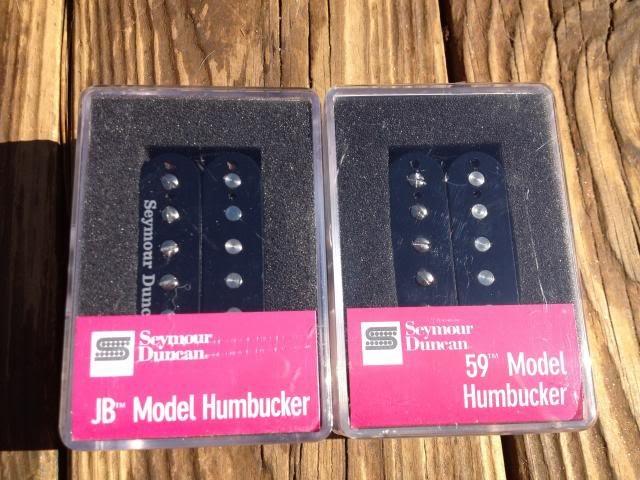 Image 3 of Seymour Duncan SH-4 JB & SH-1N 59 Model BLACK 4 Conductor Humbucker Pickup Set