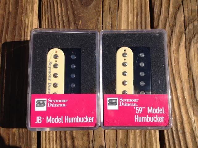 Image 3 of Seymour Duncan SH-4 JB S1110H-1N 59 Model ZEBRA 4 Conductor Humbucker Pickup Set