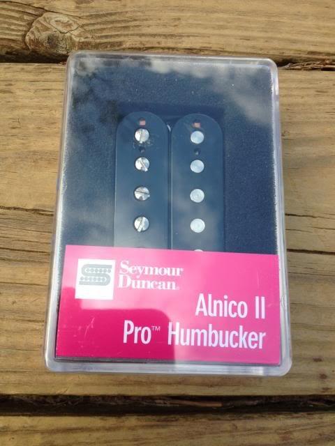 Image 3 of Seymour Duncan APH-1 Alnico II Pro Neck Pickup Black Humbucker