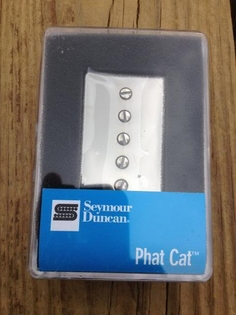 Image 3 of Seymour Duncan SPH-1N Phat Cat Neck Pickup P-90 fit for Humbucker Nickel NEW