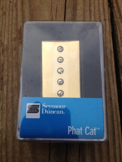 Image 3 of Seymour Duncan SPH-1N Phat Cat Neck Pickup P-90 fit for Humbucker GOLD NEW