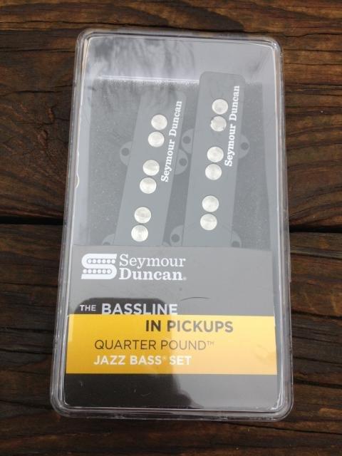 Image 3 of SEYMOUR DUNCAN Quarter Pound SJB-3 Jazz Bass Neck & Bridge Pickup Set Fender