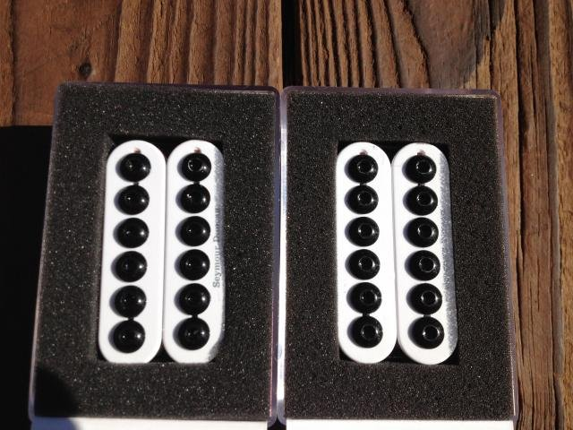 Image 4 of Seymour Duncan SH-8 Invader Humbucker Pickup SET White Ceramic Neck & Bridge