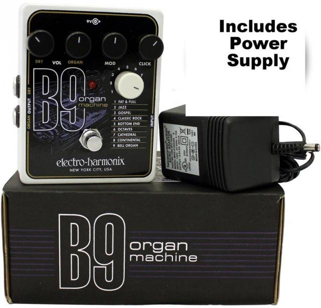 Image 0 of Electro Harmonix B9 Organ Machine Electric Guitar Pedal with Power Supply